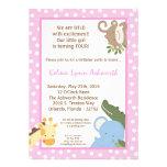invitación del cumpleaños de ZooAnimal de la selva