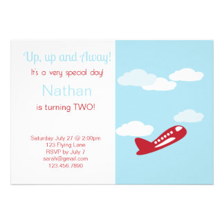 Invitación del cumpleaños del aeroplano