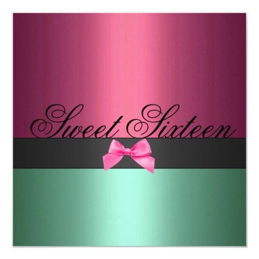 Invitación del cumpleaños del arco del dulce