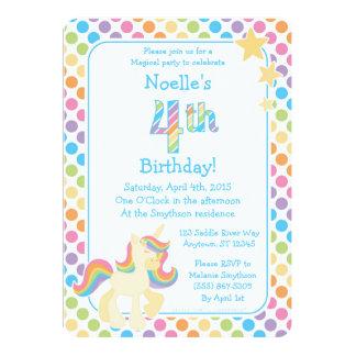 Invitación del cumpleaños del arco iris del