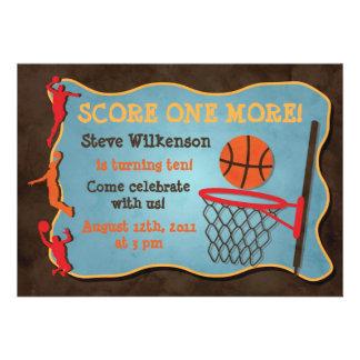 Invitación del cumpleaños del baloncesto