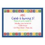 Invitación del cumpleaños del bebé de los bloques
