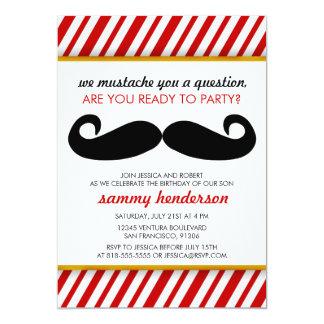 Invitación del cumpleaños del bigote