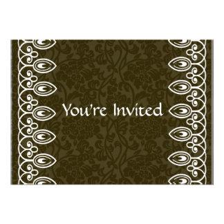 Invitación del cumpleaños del brocado de Brown