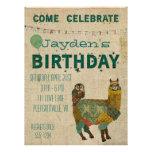 Invitación del cumpleaños del búho del trullo de l