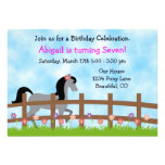 Invitación del cumpleaños del caballo para los chi