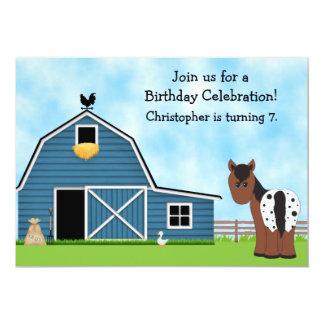 Invitación del cumpleaños del caballo y de la