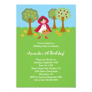 Invitación del cumpleaños del Caperucita Rojo