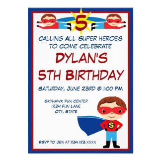Invitación del cumpleaños del carácter del cómic