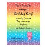 Invitación del cumpleaños del cerdo