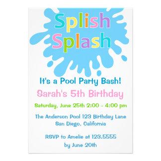 Invitación del cumpleaños del chica de fiesta en l