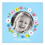 Invitación del cumpleaños del chica de la imagen