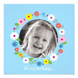 Invitación del cumpleaños del chica de la imagen invitación 13,3 cm x 13,3cm