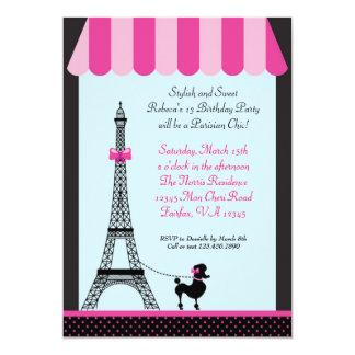 Invitación del cumpleaños del chica de la torre