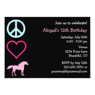 Invitación del cumpleaños del chica de los invitación 12,7 x 17,8 cm