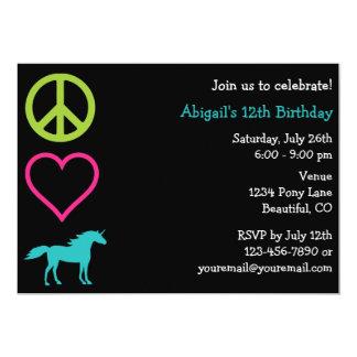 Invitación del cumpleaños del chica de los