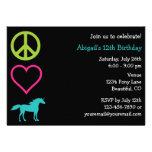 Invitación del cumpleaños del chica de los unicorn