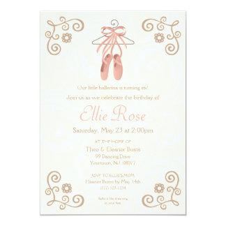 Invitación del cumpleaños del chica de los zapatos