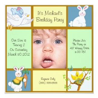 Invitación del cumpleaños del conejito