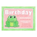 Invitación del cumpleaños del creyón de la niña li