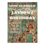 Invitación del cumpleaños del damasco de las