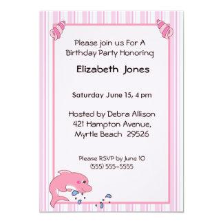 Invitación del cumpleaños del delfín