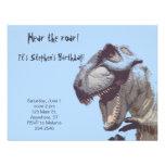 Invitación del cumpleaños del dinosaurio de T-Rex