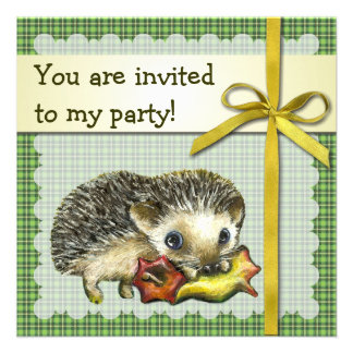 Invitación del cumpleaños del erizo