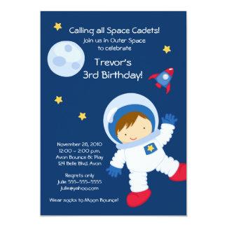 Invitación del cumpleaños del ESPACIO EXTERIOR del
