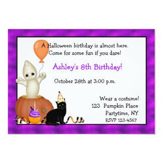 Invitación del cumpleaños del fantasma de