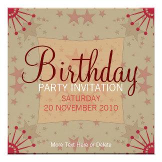 Invitación del cumpleaños del fiesta de FunStars