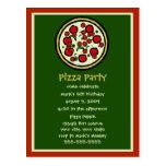 Invitación del cumpleaños del fiesta de la pizza tarjetas postales
