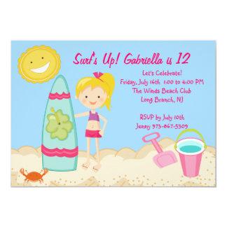 Invitación del cumpleaños del fiesta de la playa