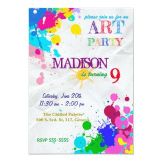 Invitación del cumpleaños del fiesta del arte/de