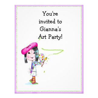Invitación del cumpleaños del fiesta del artista d