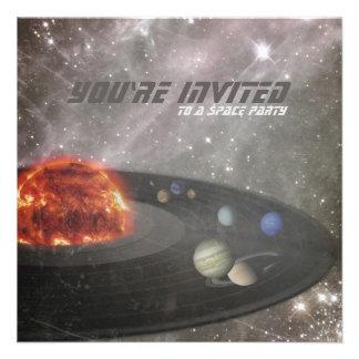Invitación del cumpleaños del fiesta del espacio