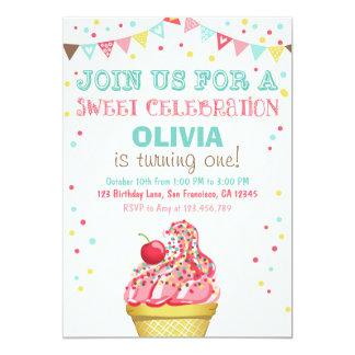 Invitación del cumpleaños del fiesta del rosa de