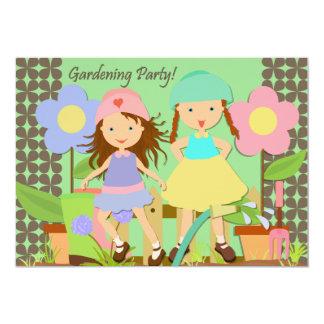 Invitación del cumpleaños del fiesta que cultiva