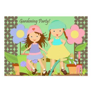 Invitación del cumpleaños del fiesta que cultiva u