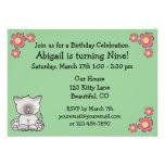 Invitación del cumpleaños del gato del gatito para