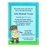 Invitación del cumpleaños del golf del putt del