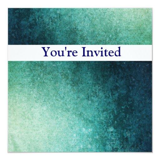 Invitación del cumpleaños del Grunge del verde