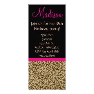 Invitación del cumpleaños del guepardo