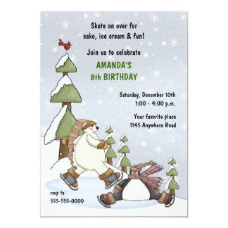 Invitación del cumpleaños del invierno