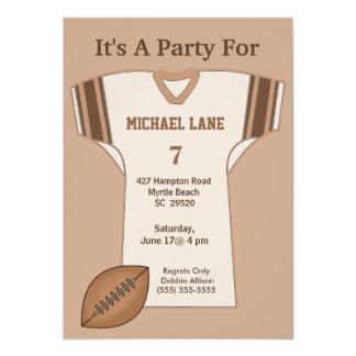Invitación del cumpleaños del jersey del fútbol invitación 12,7 x 17,8 cm