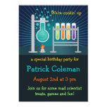 Invitación del cumpleaños del laboratorio de