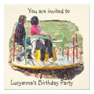 Invitación del cumpleaños del mejor amigo invitación 13,3 cm x 13,3cm