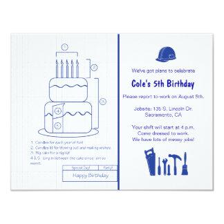 Invitación del cumpleaños del modelo invitación 10,8 x 13,9 cm