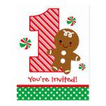 Invitación del cumpleaños del muchacho del pan de  tarjeta postal