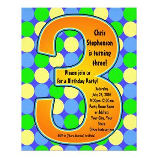 Invitación del cumpleaños del muchacho grande colo tarjetones